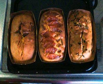 パウンドケーキ三種