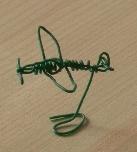 針金ミニグッズ(飛行機)