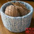 裂き織りの編物ケース