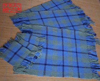 手織りランチョンマット&コースター